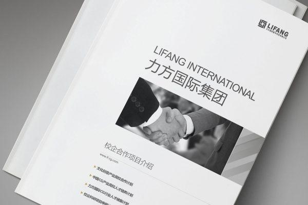 力方国际数字科技画册设计封面